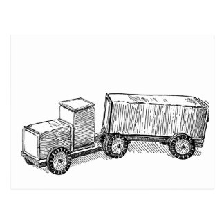 Camión del cartón de la leche del vintage tarjeta postal