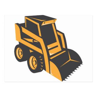 camión del cavador del buey de la resbalón postales