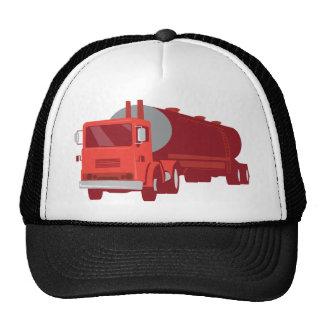 Camión del cemento del petrolero retro gorros bordados