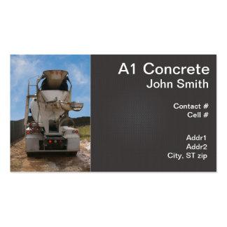 Camión del cemento en el emplazamiento de la obra plantillas de tarjetas personales