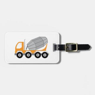 Camión del cemento etiquetas maleta