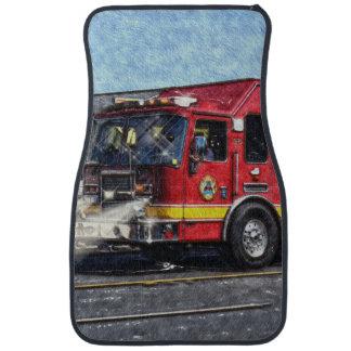 Camión del coche de bomberos, vehículo de la alfombrilla de auto