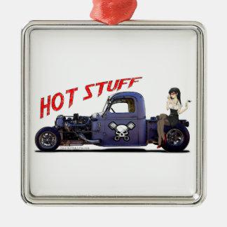 Camión del coche de carreras con un chica ornamento para reyes magos