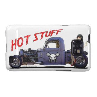 Camión del coche de carreras con un chica samsung galaxy s2 carcasas