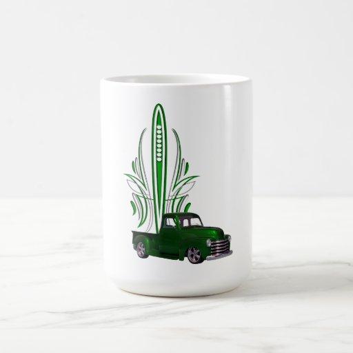 Camión del coche de carreras taza