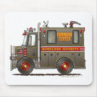 Camión del comando de la seguridad de patria alfombrilla de ratón