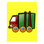 Camión del dibujo animado postales
