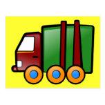 Camión del dibujo animado tarjetas postales