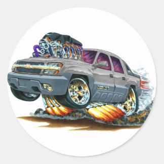 Camión del gris de la avalancha pegatina redonda
