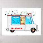 Camión del helado con música impresiones