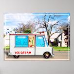 Camión del helado en la calle poster