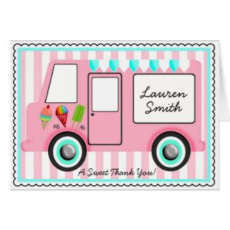 Camión del helado tarjetas