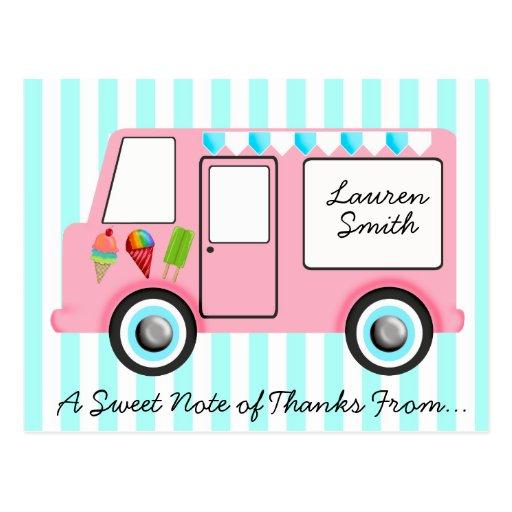 Camión del helado tarjeta postal