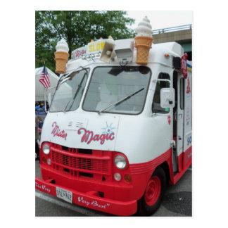 Camión del helado tarjetas postales