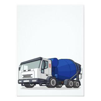 """Camión del mezclador de cemento invitación 5.5"""" x 7.5"""""""