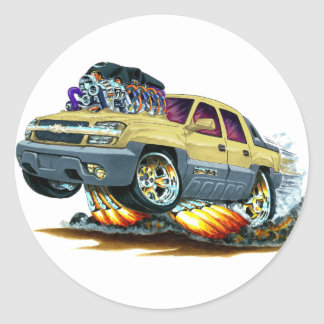 Camión del moreno de la avalancha pegatina redonda