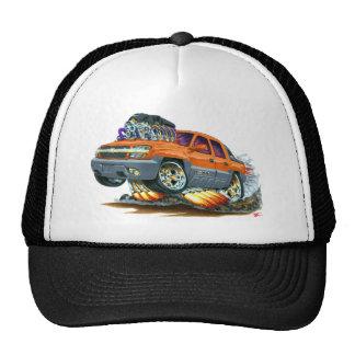 Camión del naranja de la avalancha gorros bordados