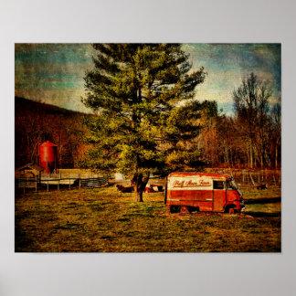 Camión del panel de la luna de la Poster-Mitad