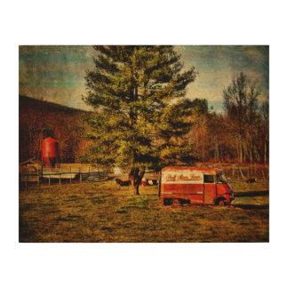 Camión del panel de madera de la luna de la impresiones en madera