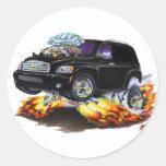 Camión del panel negro de Chevy HHR Pegatina Redonda