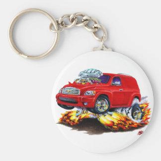 Camión del panel rojo de Chevy HHR Llavero Redondo Tipo Pin