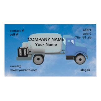 camión del propano en el cielo azul tarjetas de visita