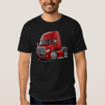 Camión del rojo de Freightliner Cascadia Camisas
