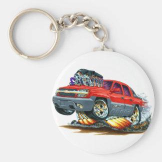 Camión del rojo de la avalancha llaveros personalizados