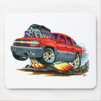 Camión del rojo de la avalancha alfombrilla de ratones