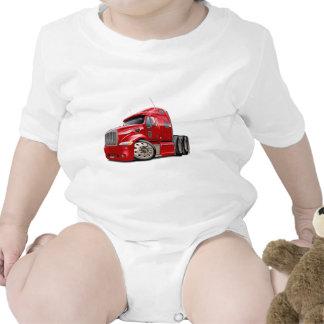 Camión del rojo de Peterbilt Trajes De Bebé