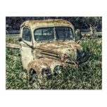 Camión del trabajo de la antigüedad del vintage de tarjeta postal