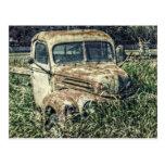 Camión del trabajo de la antigüedad del vintage postales