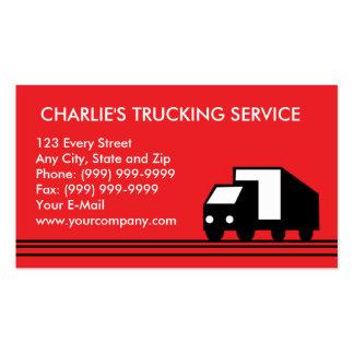Camión del transporte del camión de la furgoneta tarjetas de visita