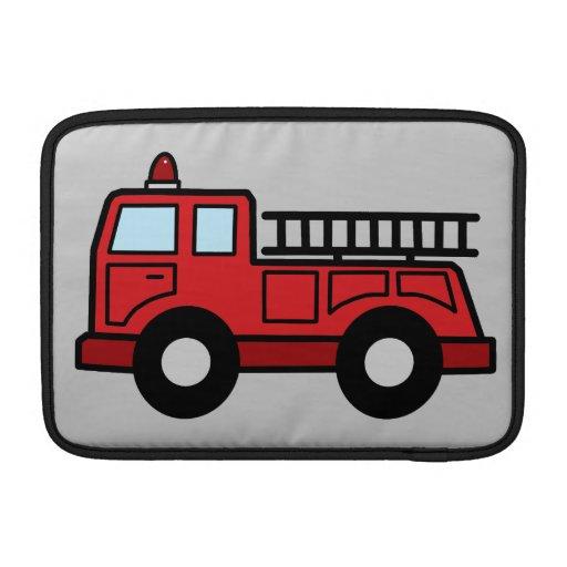 Camión del vehículo de la emergencia del Firetruck Fundas Macbook Air