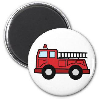 Camión del vehículo de la emergencia del Firetruck Imán Redondo 5 Cm