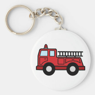 Camión del vehículo de la emergencia del Firetruck Llavero Redondo Tipo Pin