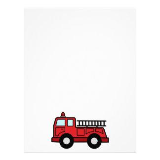 Camión del vehículo de la emergencia del Firetruck Plantilla De Membrete