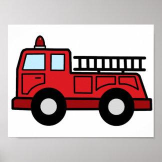 Camión del vehículo de la emergencia del Firetruck Póster