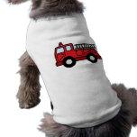 Camión del vehículo de la emergencia del Firetruck Ropa Perro