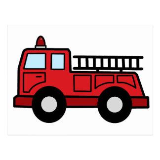 Camión del vehículo de la emergencia del Firetruck Tarjeta Postal