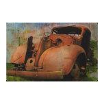 Camión del vintage lienzo envuelto para galerias