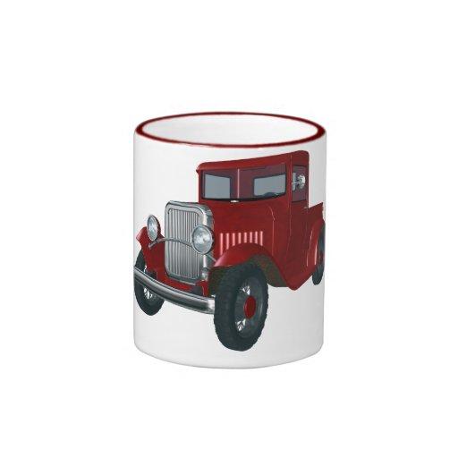 Camión del vintage taza de café