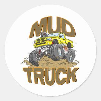 Camión Dodge del fango Etiquetas Redondas