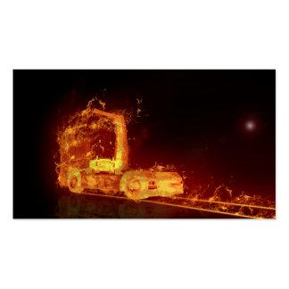 Camión en llamas - tarjeta de visita