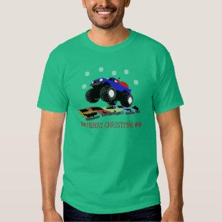 Camión feo Santa del T-camisa-Monstruo del suéter