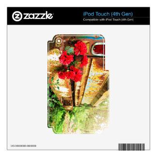 Camión floral y de la granja rústico calcomanías para iPod touch 4G