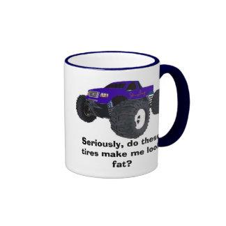 Camión gordo taza de dos colores