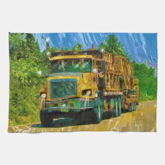 Camión grande amarillo del transportador del andam toallas