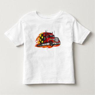 Camión grande del aparejo playera de niño