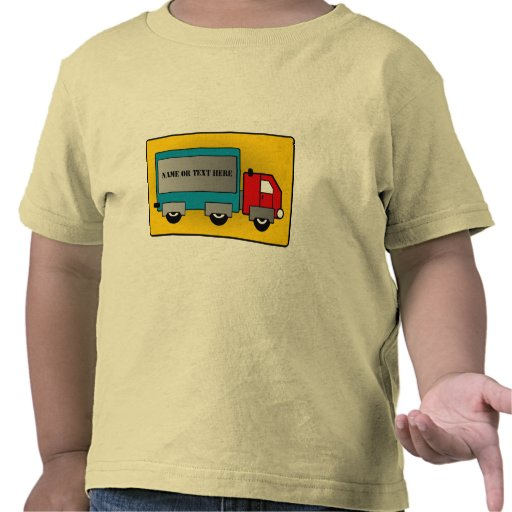 Camión grande - el portador de carga, añade su camisetas